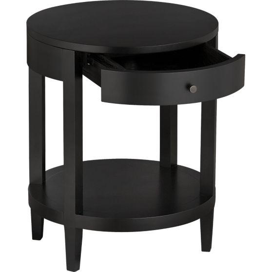 Best Lasalle Round Nightstand In Nightstands Crate And Barrel 640 x 480