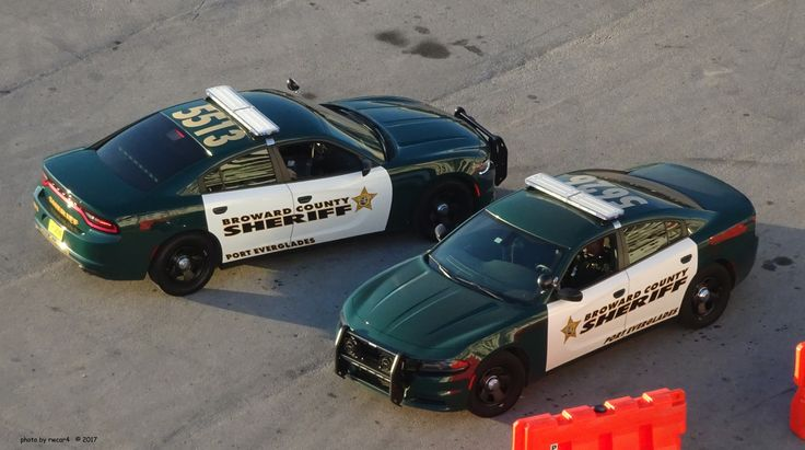 Public Safety Equipment, Two Broward County Florida Sheriff Department Dodge Chargers.