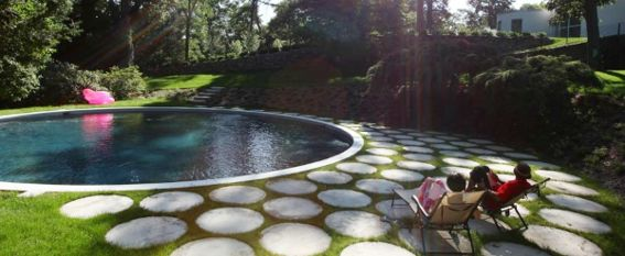 Always a fan of circle motifs! Landscape architecture by Terrain NYC