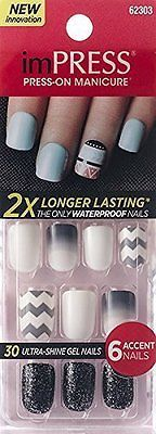 Press-On Nails: **New 2015** Kiss 2X Longer Lasting Impress Flash Mob By Broadway Press-On -> BUY IT NOW ONLY: $31.55 on eBay!