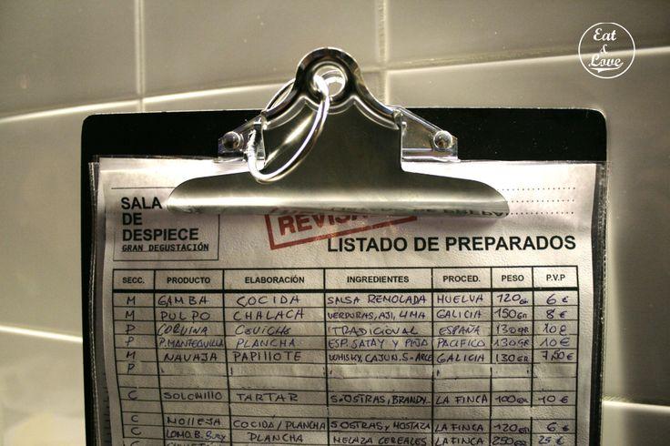 Carta Sala de Despiece - restaurante tapas Madrid