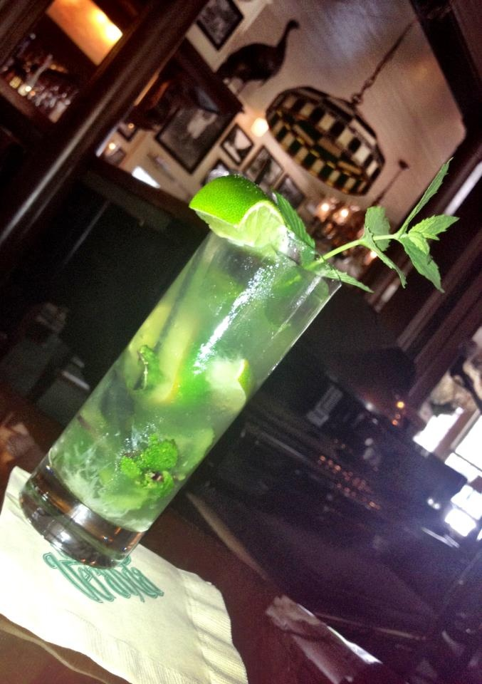 Classic Cuban Mojito from The Veranda Restaurant