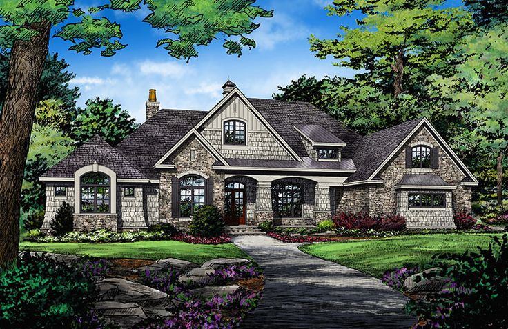 The Harrison #1375 is now available! A thoughtful arrangement of public and private spaces results in this family-friendly design with a total of five bedrooms, including the bedroom/study. http://www.dongardner.com/house-plan/1375/the-harrison. #OneStory
