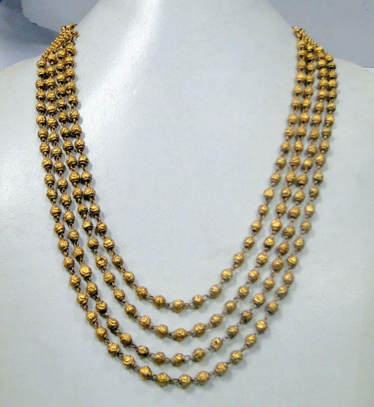 23K gold 4 line tribal ethic antique necklace chains www.tribalexport.com