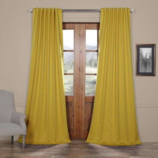 Blackout Curtain Rod Pocket Panel Pair Panel Curtains Blackout