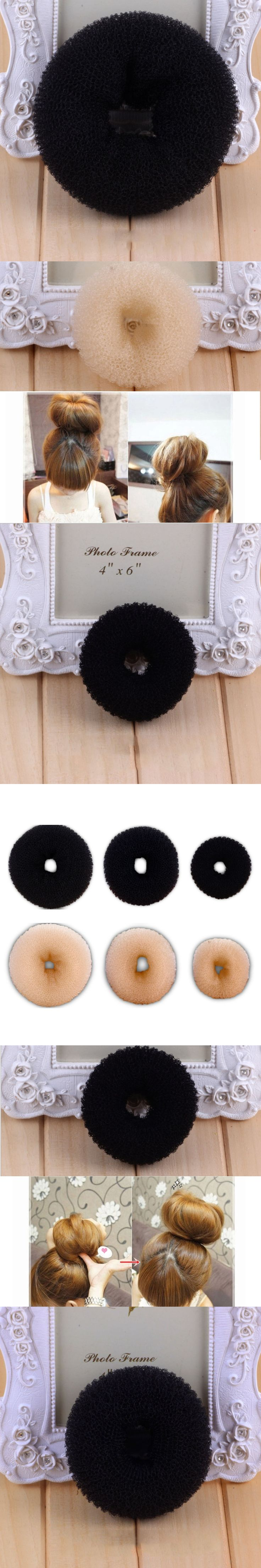 Fashion Maiden Donut Bun Maker Girl Women Round Sponge Hair Curler Curling Iron Hairstyle Styling Tools