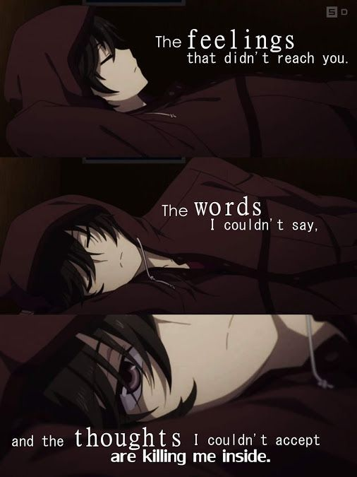 Anime Sad Girl Quotes Pics: Pin By Moryo On Quotes