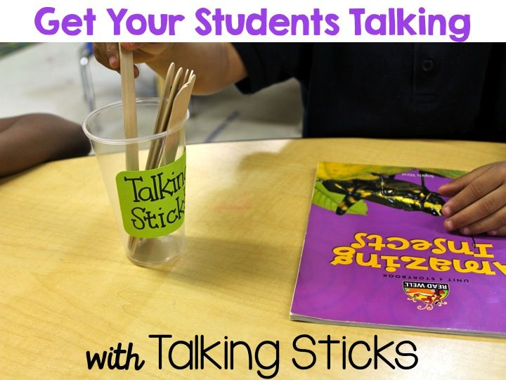 Getting Your Students Talking with Talking Sticks - Nice review of Laura Candler's Talking Sticks Mini Pack! $