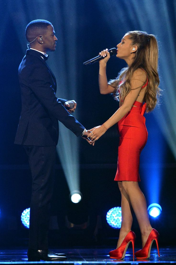 Ariana Grande and Big Sean at A Very Grammy Christmas concert