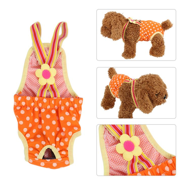 Dog Sanitary Pants Pet Physiological Pants Female Dog Diaper Menstrual Suspender Underwear Reusable Washable Pants Dog Clothes