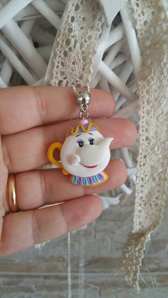 mrs potts chip cogsworth fimo clay disney beauty and the beast