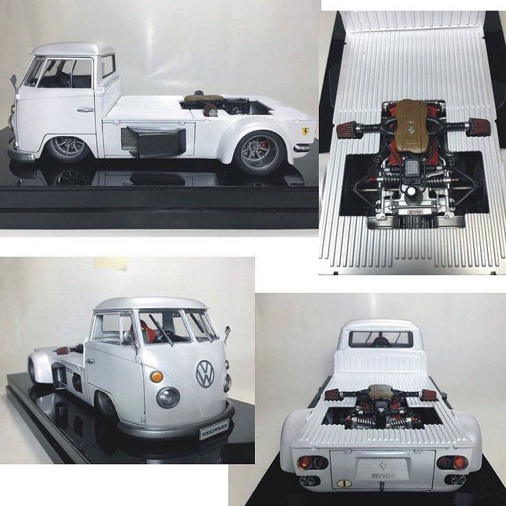 VW Dakota powered by Ferrari From/By: Ferdy Sangkala  #scalemodel #plastimodelismo #plasticmodel #plastickits #usinadoskits #udk #miniatura #miniature #maqueta #maquette #modelismo #scalemodelkit #ferrari #vw #dakota