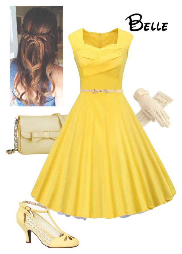 Dapper Day - Belle #Disney #Princess #Belle #BeautyAndTheBeast #1991 #WaltDisney #DisneyBound #DapperDay #Disneyland #Paris