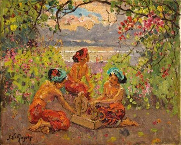 Adrien Jean Le Mayeur De Merprés - Balinese Women in the Garden sold by Sotheby's for USD 404,342.