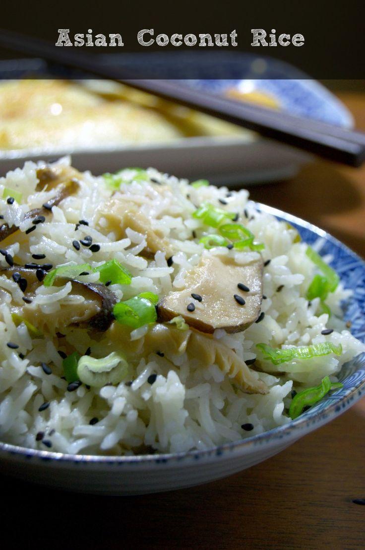 Asian Coconut Rice - Arroz con coco estilo asiático