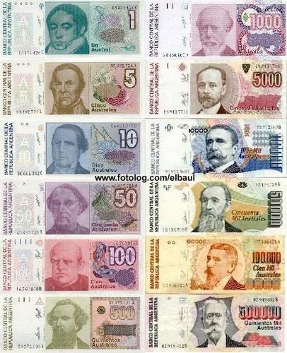 viejos billetes argentos
