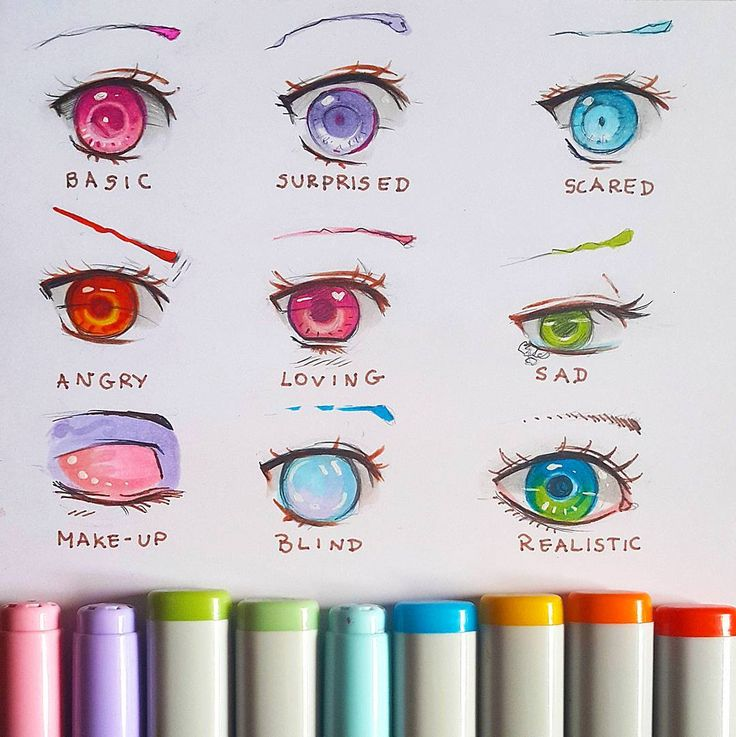 """I do eye-practice regularly so why not join and practise with me? ;) Various expressions  + Omg guys thank you for 30k ; A ; I mist think of a way to…"""