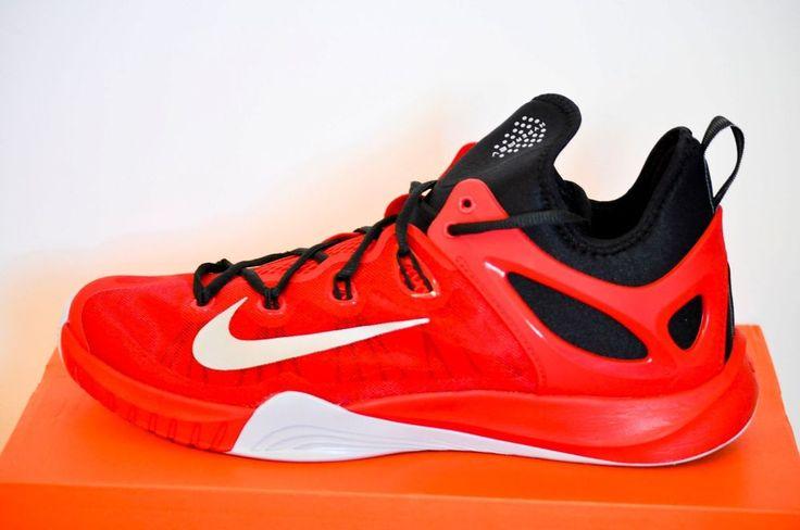 Nike Zoom Hyper Rev Basketball Shoes University Red Wolf Grey Black size 12 NIB #Nike