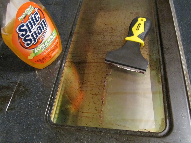 how to clean glass with a razor blade