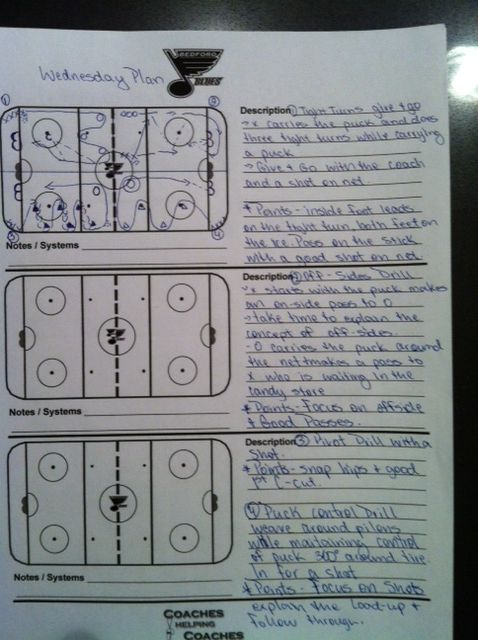 Full ice four-station plan for Novice/U8. Lots of shooting in this one.