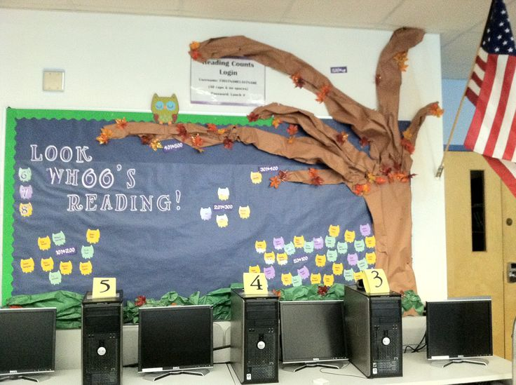 Library Reading Counts Data Wall-: