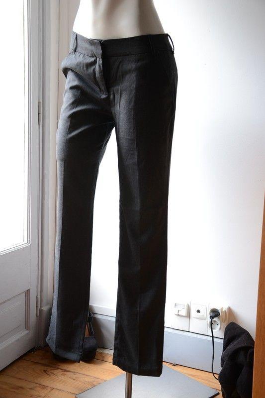 4224b66810660 Pantalon de tailleur gris anthracite - vinted.fr