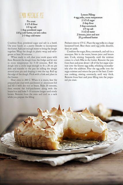 Lemon Meringue Pie via Call me Cupcake #recipe
