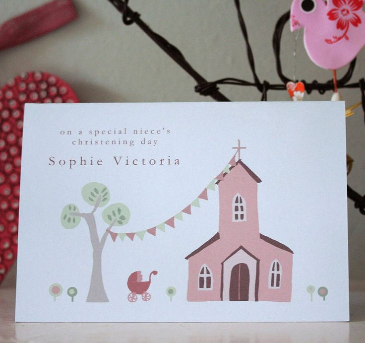 Personalised Christening Card For Girl Or Boy  by Molly Moo Designs