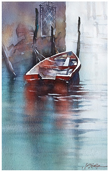 venice by Thomas W. Schaller Watercolor ~ 22 inches x 14 inches