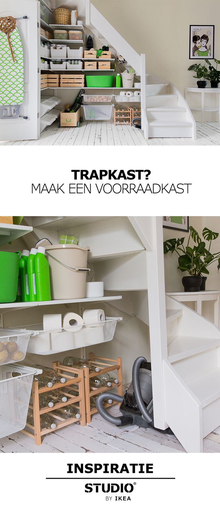 STUDIO by IKEA - Trapkast? Maak een voorraadkast | #STUDIObyIKEA #IKEA #IKEAnl #opbergen #trapkast #indelen #tips #styling #ruimte