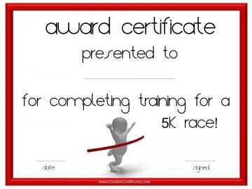 38 best projects to try images on pinterest certificate running certificate templates free customizable to award athletes for participating in race events or for those training for races yelopaper Choice Image