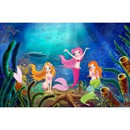 Papier peint pour enfant - Les princesse de la mer