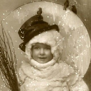 Vintage Snowman Image – Funny Old Photo