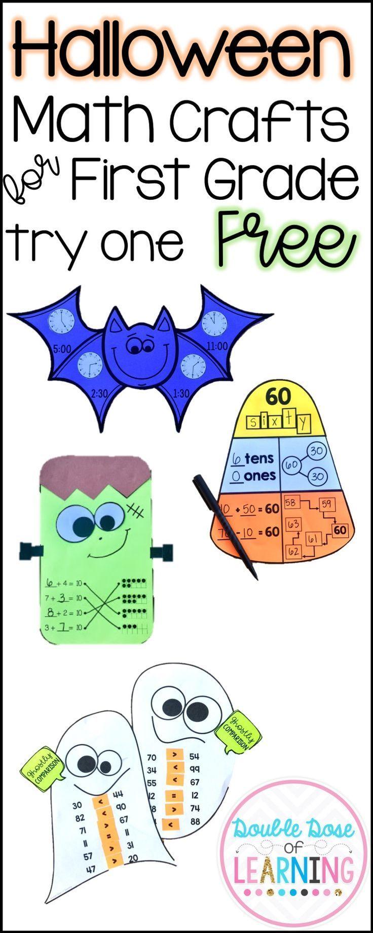 Halloween Math Crafts For First Grade Halloween Math Activities Math Crafts Halloween Math [ 1840 x 736 Pixel ]