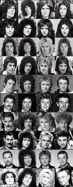 Queen through the years…