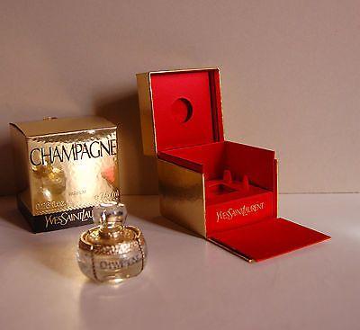TRES RARE flacon vide 7,5 ml parfum Champagne Yves Saint Laurent et son coffret 36€