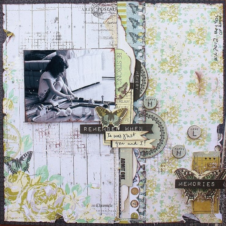 "Layout: Remember When.. ""Kaisercraft PICKLED PEAR"""