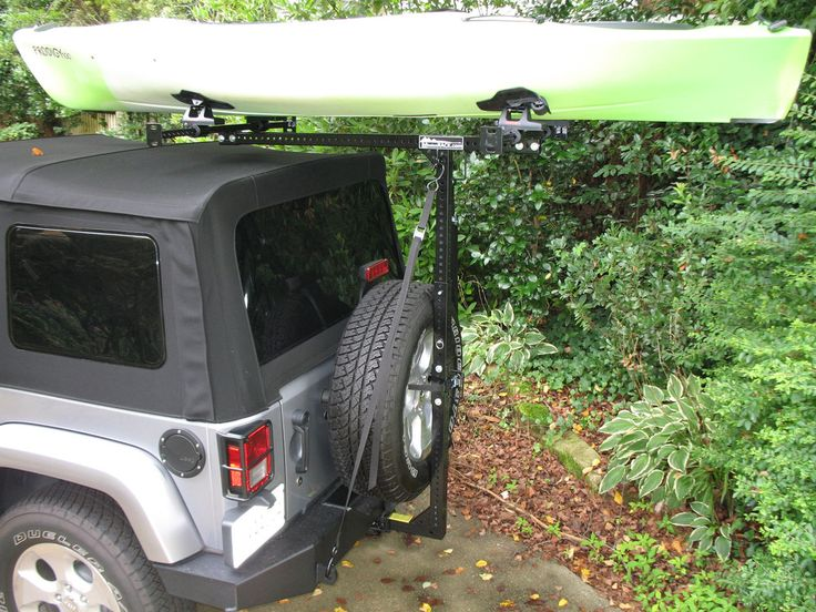 Jeep Sport rack for soft top Jeep Kayaks Hitchmount Rack http://www.hitchmount-rack.com/products/jeep-kayak-rack