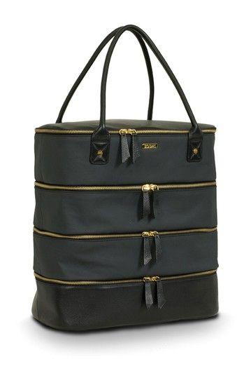 Bodhi Black Coated Linen Shoe Bag by Accessory Blowout: Handbags, Wallets & More on @HauteLook