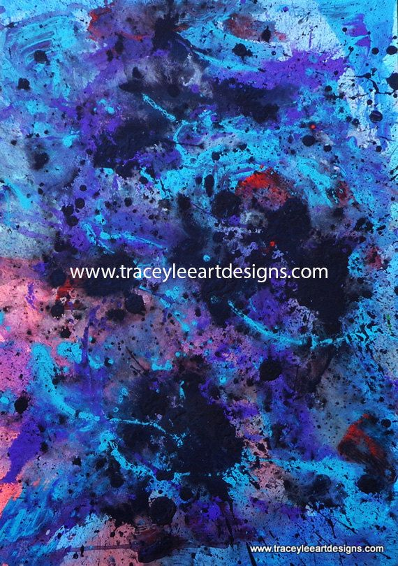 Original painting Purple Passion by Tracey by Traceyleeartdesigns