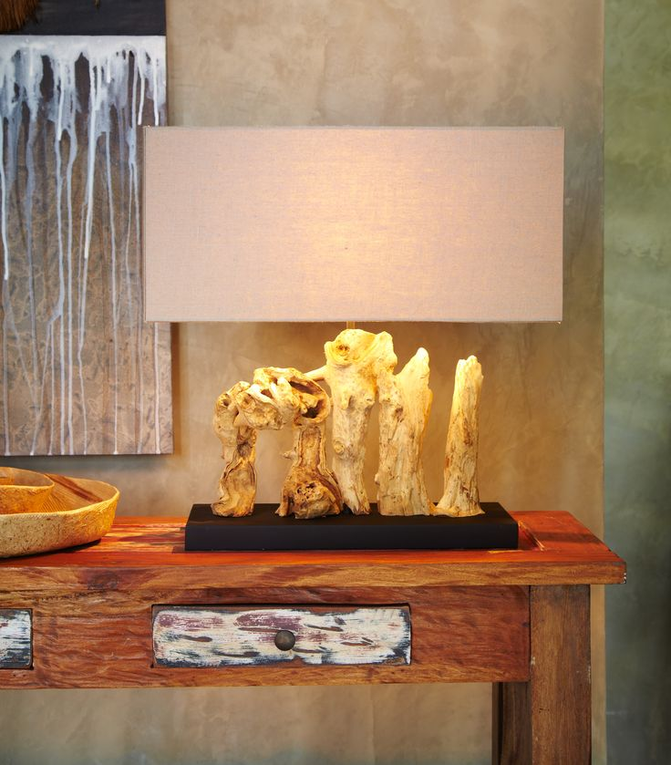 Driftwood Teak Table: 17 Best Images About Driftwood Lamps Table Lamps On