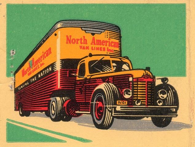 North American Van Lines - vintage advertising