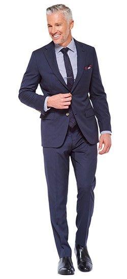 Navy Two-Color Fineline Suit