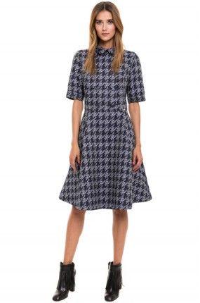 899.90zł SUKIENKA – SIMPLE – SUKIENKA http://mybranding.pl/produkt/sukienka-simple-sukienka-7/  #moda #fashion #women #kobieta #sukienka #simple #letnia #koszulowa #pepitka #kratka #midi #niebieski #blue