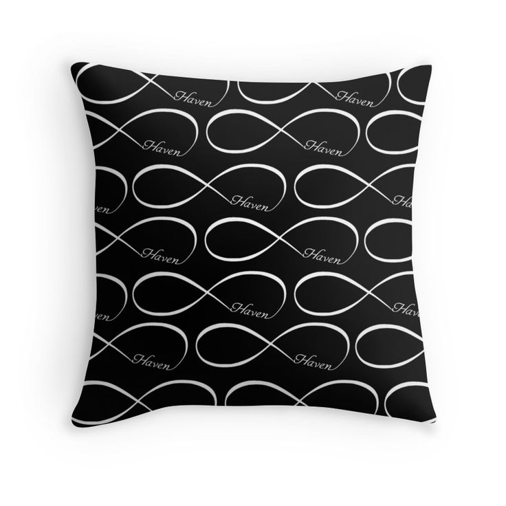 Haven Forever Infinity Symbol White Logo | Haven Syfy Inspired Pillow