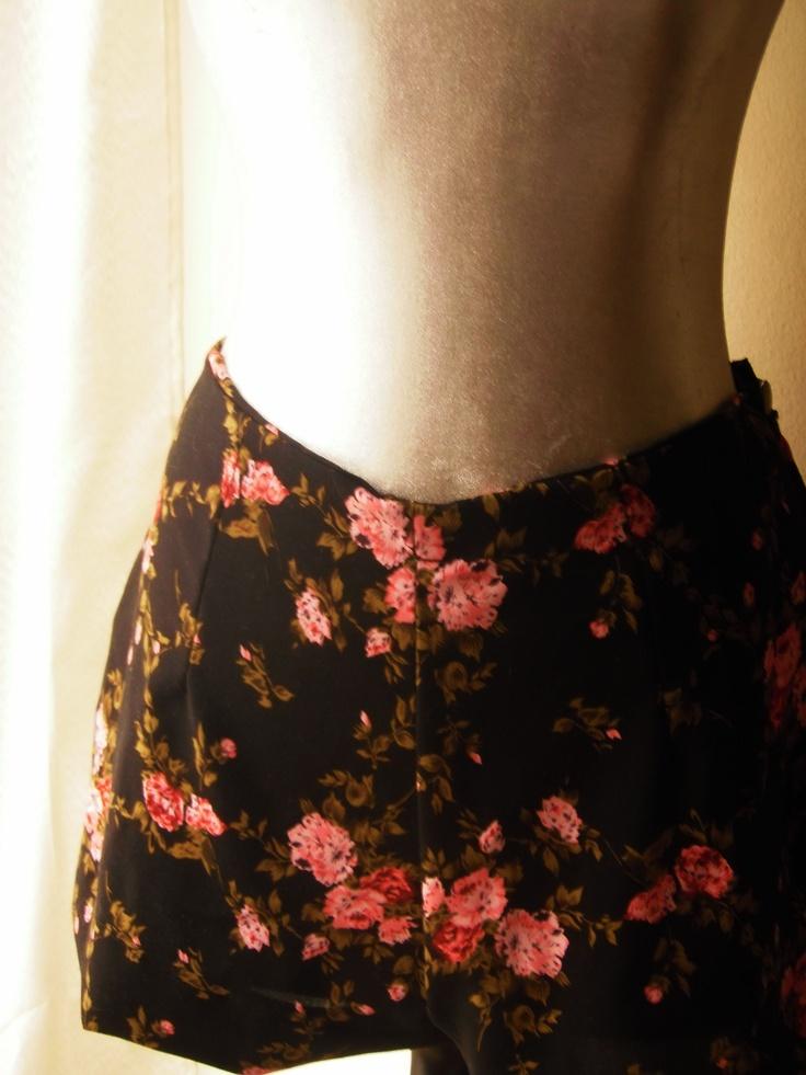 Black Floral shorts!!