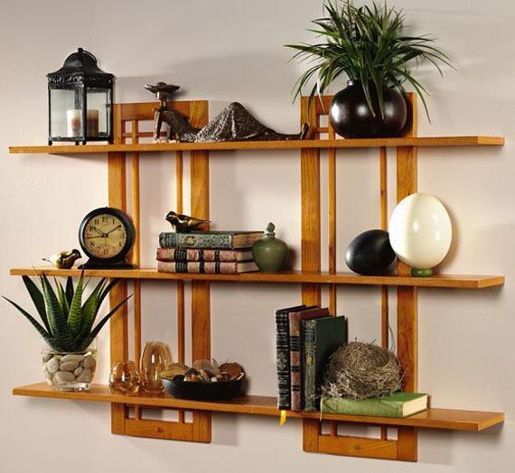 Simple Wooden Wall Shelves ~ Best images about shelves and wall designs on pinterest