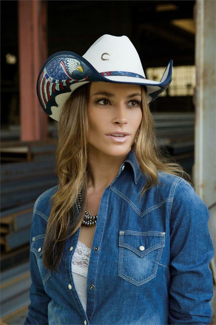 Charlie 1 Horse Liberty Patriotic White Felt Cowboy Hat