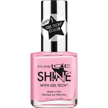Pure Ice Shine with Gel Tech Nail Polish, Afterglow, 0.5 fl oz