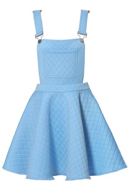 ROMWE | ROMWE Rhombus Suspender Skirt